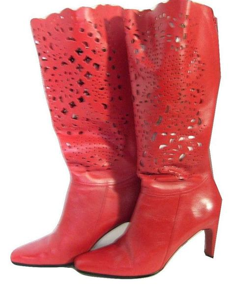 high heel boots in leather size 11 by arubyintherough