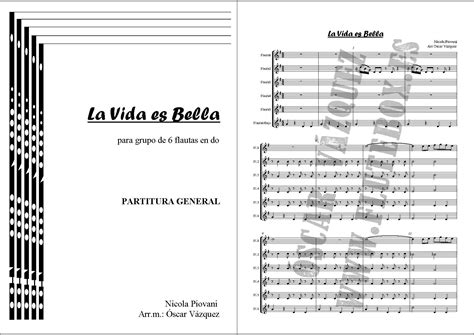partitura para completar la vida es bella eduplaneta musical flutebox es muestra la vida es bella para 6 flautas