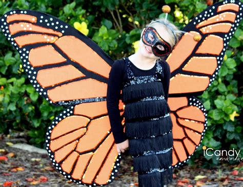 Handmade Butterfly Costume - monarch butterfly costume diy