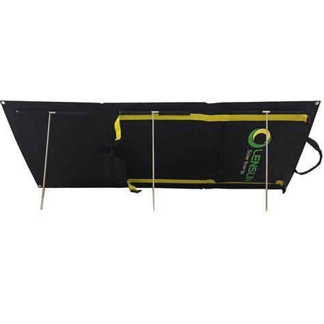 Foldable Solar With 2 Solar Panel Black lensun 100w solar charge power kit foldable portable solar panel for cing