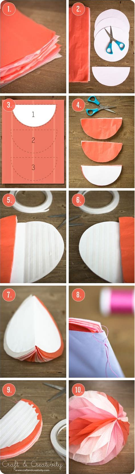 Make Your Own Paper Decorations - creativity diy and crafts and honeycomb paper on