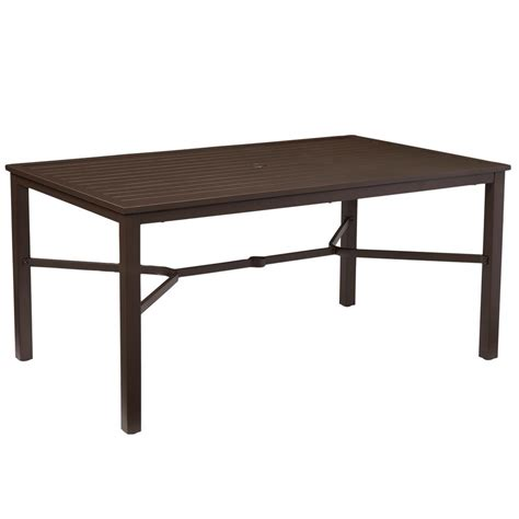Patio Dining Table Only Mix And Match Rectangular Metal Outdoor Dining Table Fts70660c The Home Depot