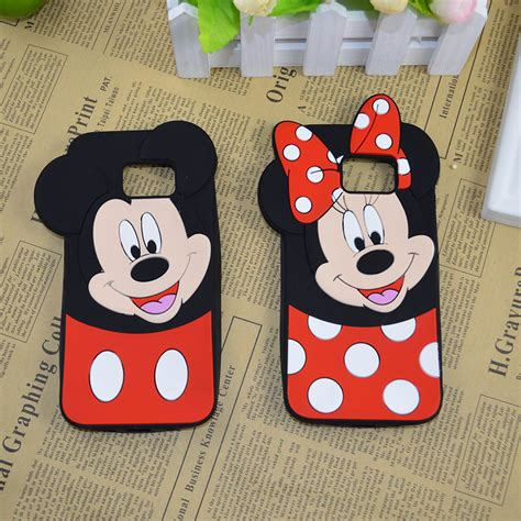 Casing Samsung Galaxy S7 Edge Minnie Mouse X6078 3d mickey and minnie mouse soft silicone for samsung galaxy s3 s4 s5 neo g900f s6