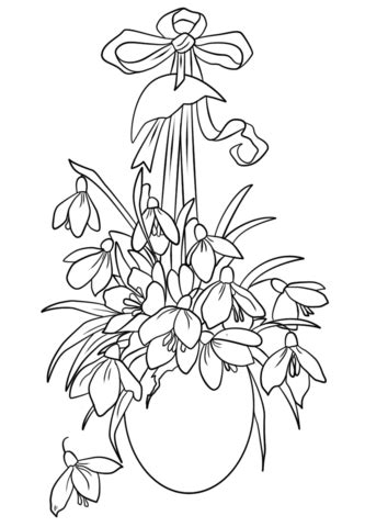 Easter Flowers coloring page | Free Printable Coloring Pages