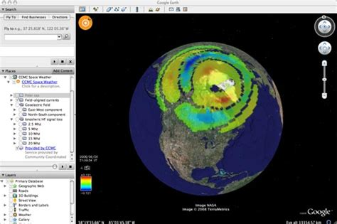 google images earth from space ccmc space weather on google earth