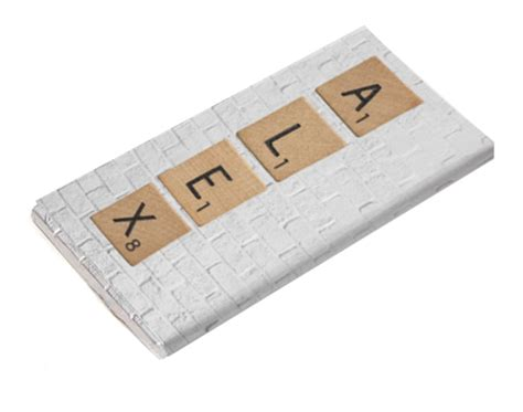 chocolate scrabble tableta de chocolate scrabble personalizada