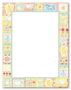 baby farm quilt stationery letterhead baby shower stationery 5772