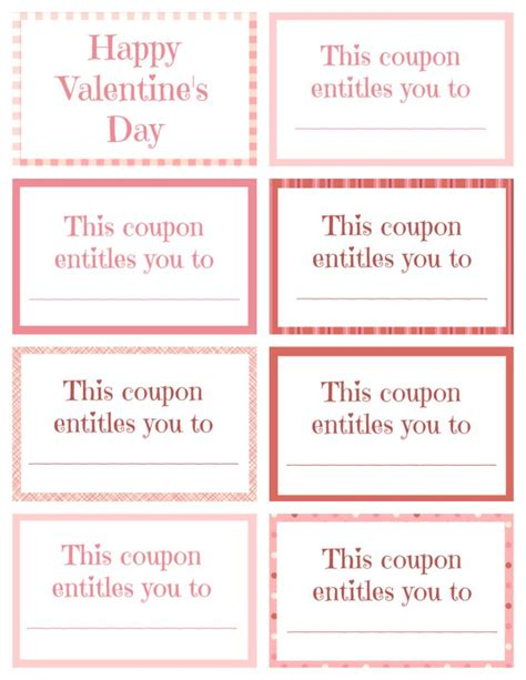 valentines coupon printable coupon book for valentines