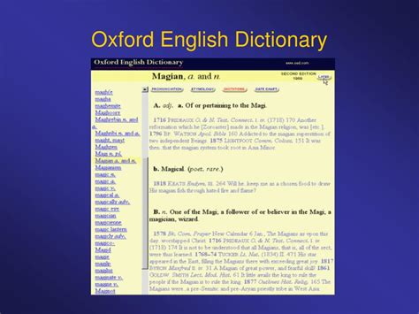 oxford english dictionary ppt early modern english 1500 1800 powerpoint