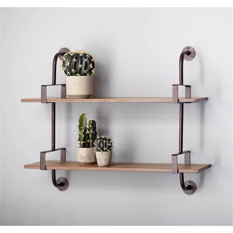 home depot wall shelving industrial pipe wall shelf 66433 the home depot