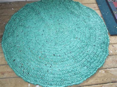 plastic bag crochet rug rug crocheted from plastic bags repurpose