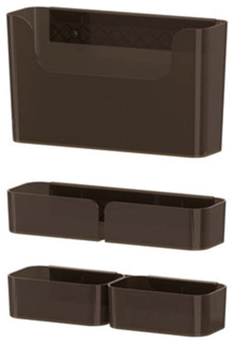 Modern Desk Accessories Set by Pluggis 7 Container Set With Rail Modern Desk