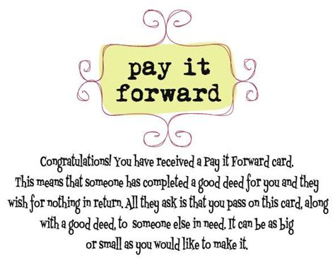 pay it forward card templates 1000 images about pay it forward cards on