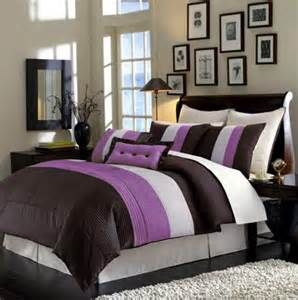new bedding choco brown purple venetto comforter set