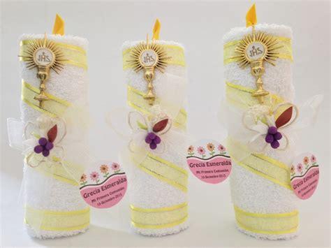 vela de toalla bautizo primera comunion recuerdo economico 25 00 en mercado libre