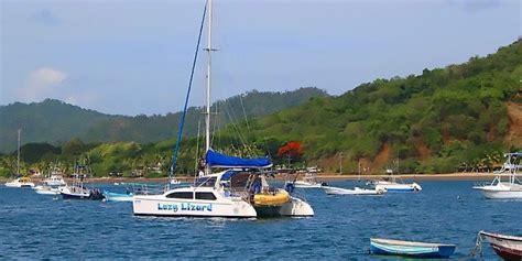 catamaran flamingo costa rica catamaran and snorkeling cruise lazy lizard sailing tour
