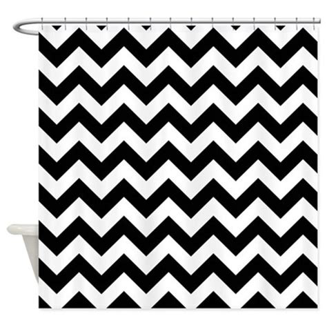 chevron shower curtain black and white black and white chevron pattern shower curtain by poptopia1