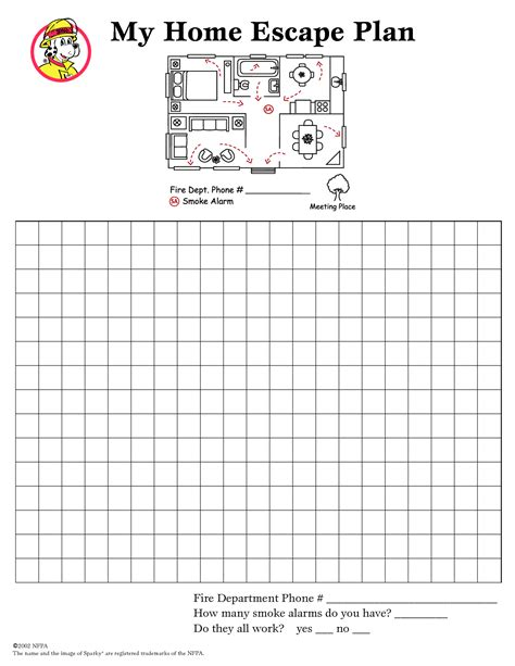 home escape plan template best photos of home