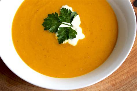 spiced  pumpkin sweet potato soup hey bernice