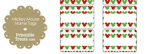 printable mickey mouse name tags mickey mouse christmas name tags printable treats com