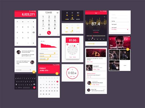 ui pattern download material ui kit freebie download photoshop resource