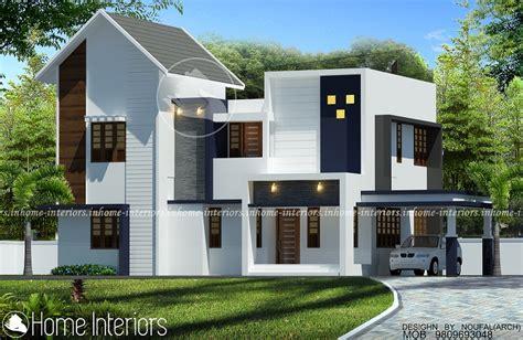 2100 square 4 bhk contemporary home design 2200 square 4 bhk sloped contemporary home design