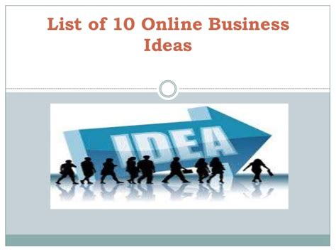 list of small business ideas from home list of 10 business ideas