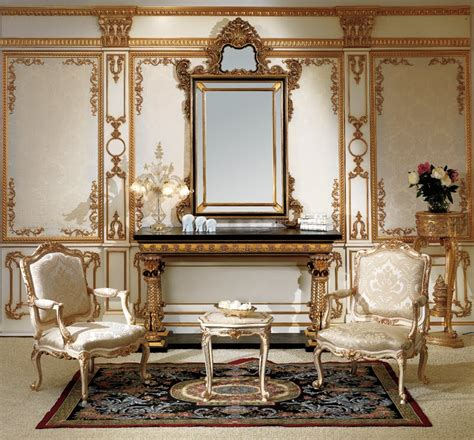 baroque home decor antique italian classic furniture entrance console and mirror in baroque style
