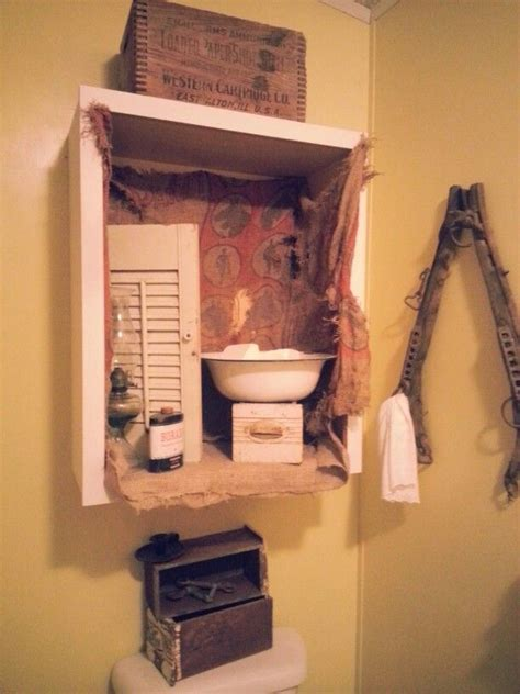 primitive bathroom decor stuff i ve done in my home