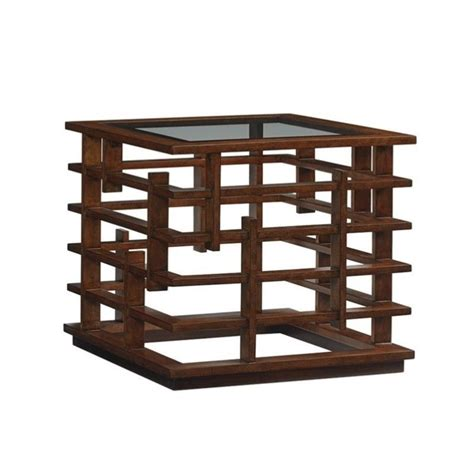 tommy bahama island fusion nobu square glass coffee table tommy bahama island fusion nobu square glass end table in