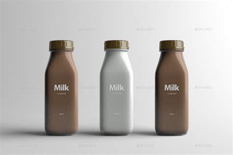 Milk Bottle milk bottle packaging mock up by zeisla graphicriver