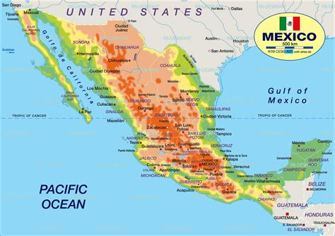 map of the mexico map of mexico map in the atlas of the world world atlas