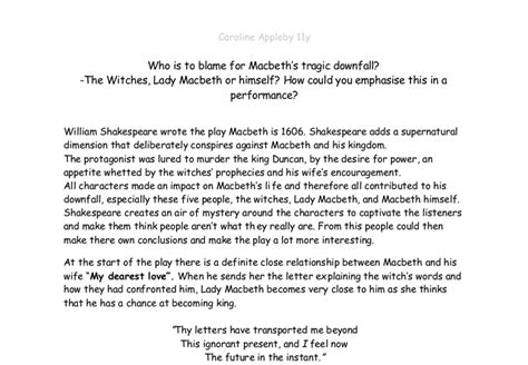 Macbeth Downfall Essay by Cheap Write My Essay Is Macbeth Responsible For His Own Downfall Thesisvideo Web Fc2