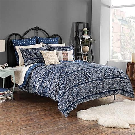 steve madden 174 lani reversible comforter set in indigo