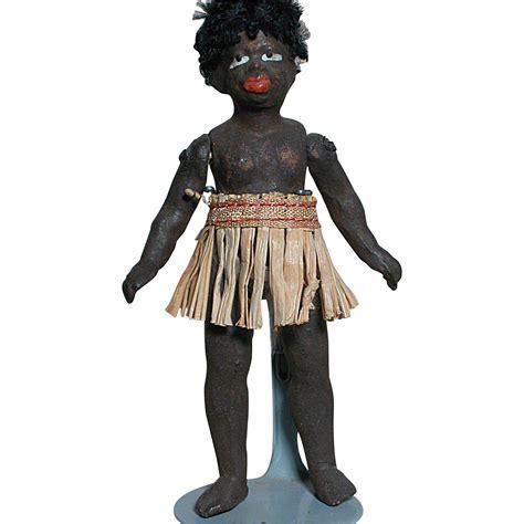 black dollhouse dolls antique small dollhouse size black ethnic doll great