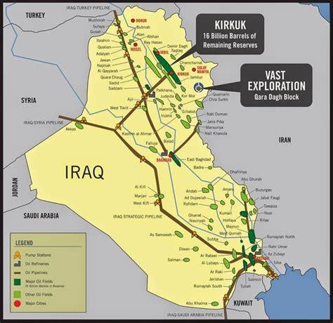 map of iraqi fields drilling maps iraq pipeline fields map