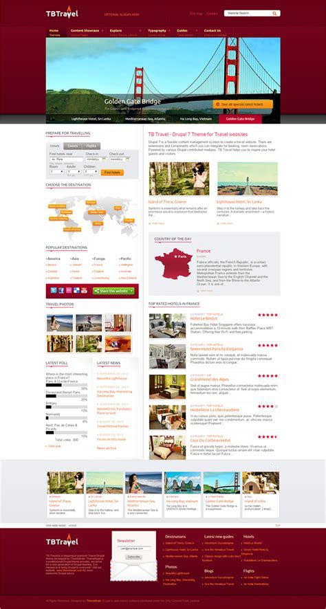 drupal theme exle sites 10 travel agency drupal themes free website templates
