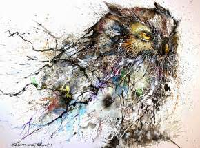 gallery for gt steampunk owl painting