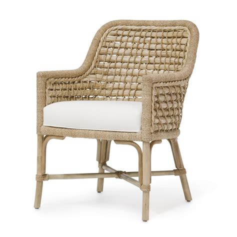 Woven Dining Chairs Seagrass Seagrass Woven Back Arm Chair Mecox Gardens