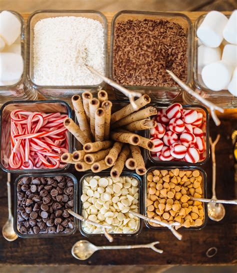 toppings for hot chocolate bar how to create a hot chocolate bar for your wedding this