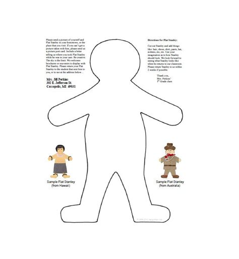 flat stanley template 37 flat stanley templates letter exles template lab