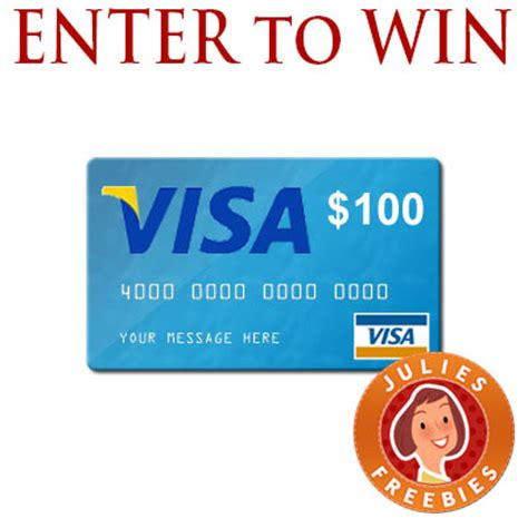 150 Visa Gift Card - enter to win a 150 visa gift card 3 winners julie s freebies