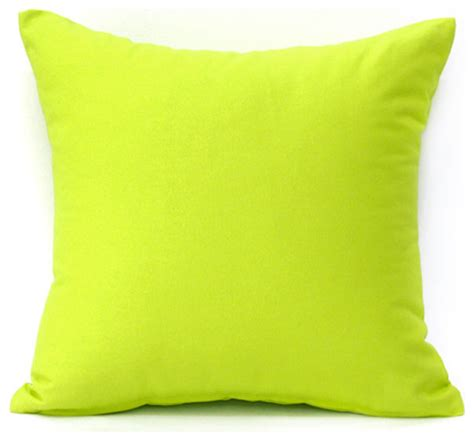 solid lime green accent throw pillow cover modern
