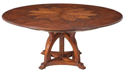 expandable round dining table solid walnut round arts and crafts expandable dining room