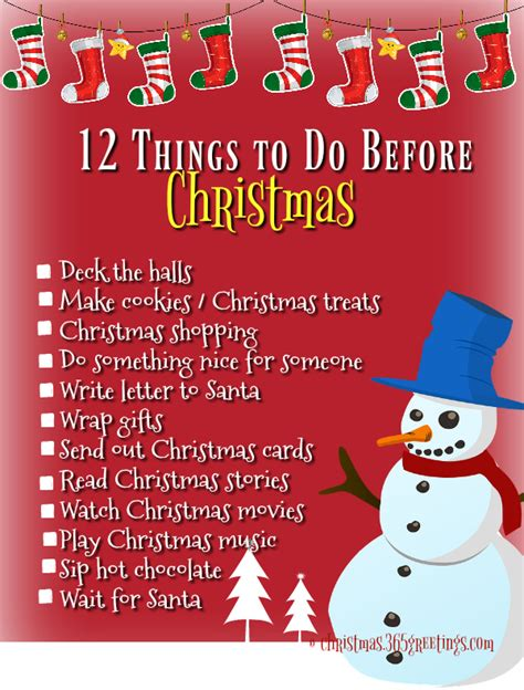 100 things to do before christmas christmas celebration