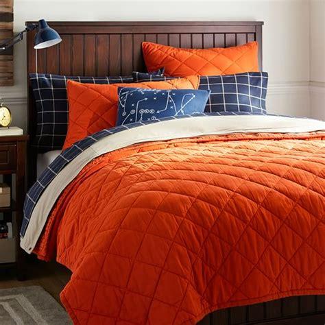 Solid Orange Quilt finley solid quilt sham orange pbteen