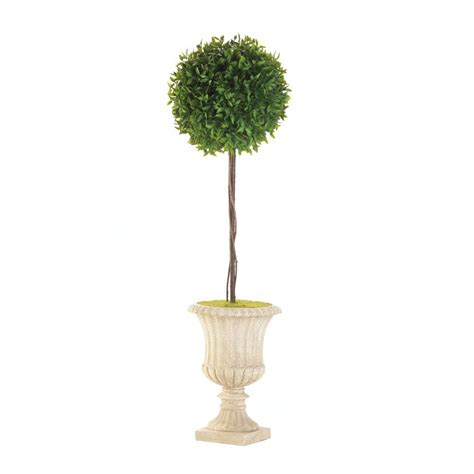 29 quot topiary in white planter wholesale at koehler home decor