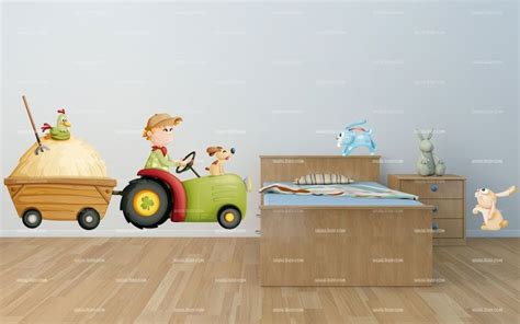 chambre agricole stickers tracteur
