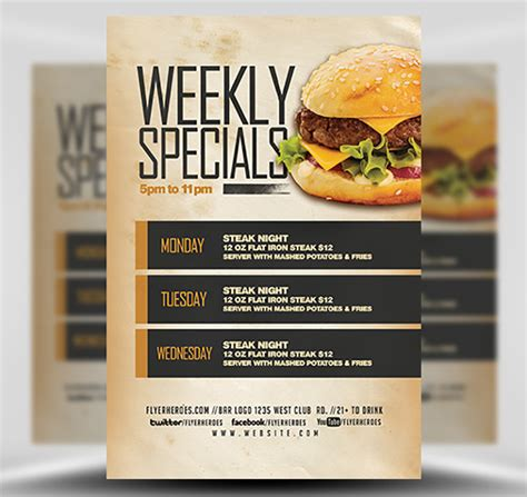Weekly Specials Flyer Template V2 Flyerheroes Specials Flyer Template