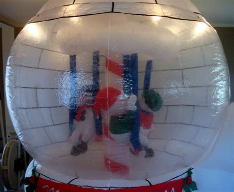 gemmy airblown inflatable 8ft snow globe carosel holiday